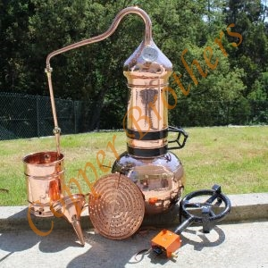Complete 20 L Premium Copper Column Distilling Kit with Gas